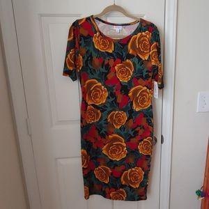 NWT LuLaRoe Julia fitted dress rose print M medium